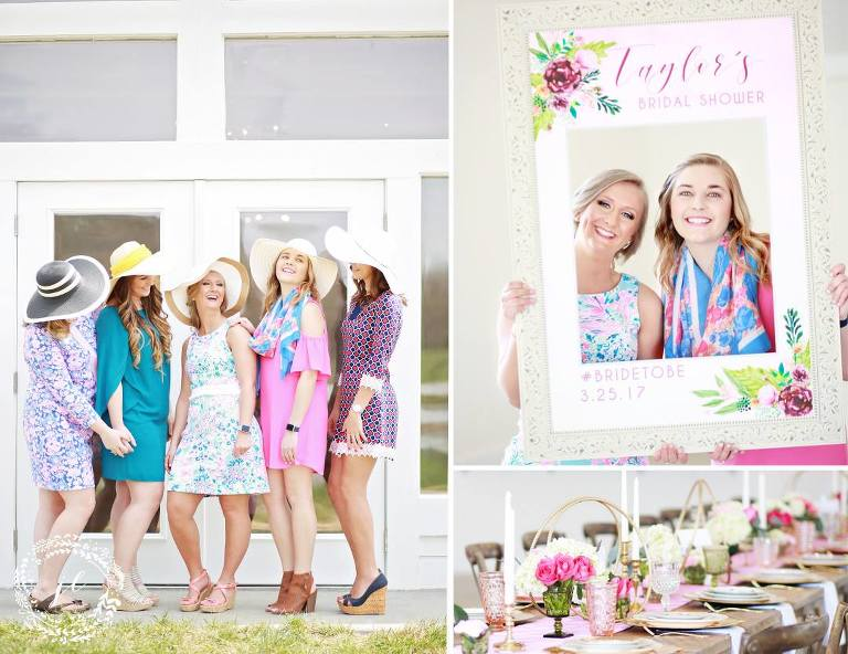 bridal shower lilly pulitzer inspired